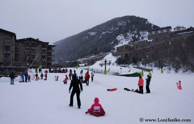 Trineo de nieve en Andorra