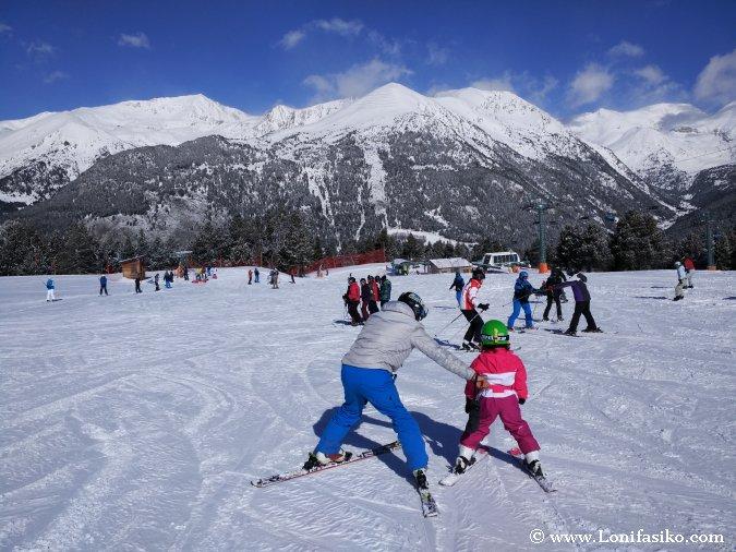 Aprender esqui niños en Andorra Grandvalira