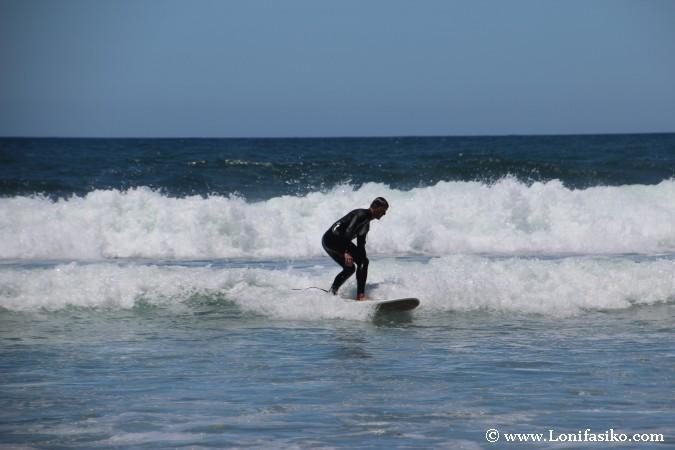 Dónde aprender hacer surf Portugal