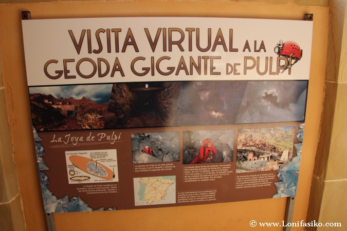 Visita geoda gigante Pulpí