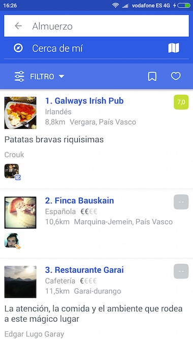 Foursquare App Restaurantes Fotos
