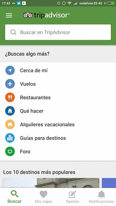 Tripadvisor app Restaurantes