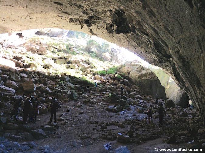 Fotos de la cueva de Baltzola