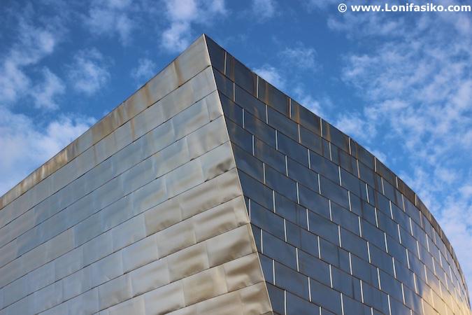 Fotos museo Guggenheim Bilbao aristas titanio