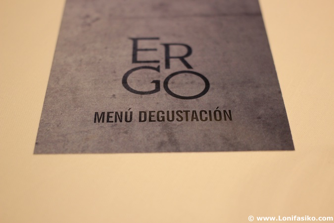 Ergo Restaurante menú degustación Miranda de Ebro fotos