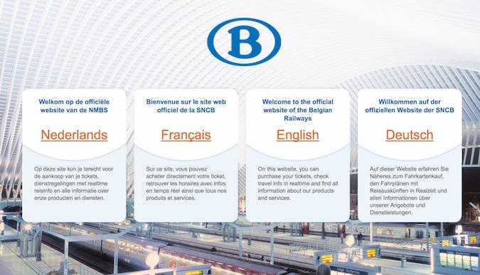 Belgian Rail Página web