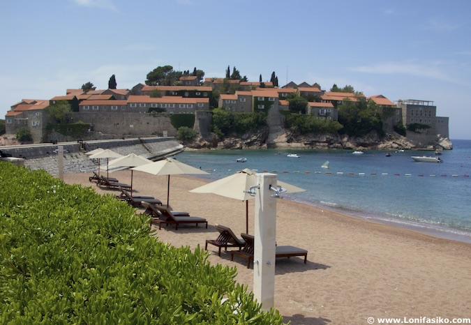 Sveti Stefan beach Montenegro