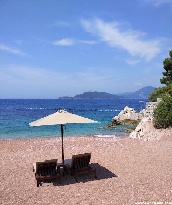 hoteles playa Montenegro lujo sveti stefan