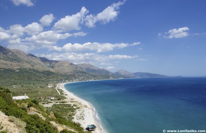 borsh playa beach albania fotos riviera albanesa
