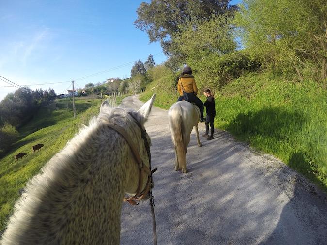 Rutas a caballo en Comillas hípica troya