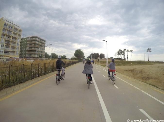 costa barcelona en bicicleta