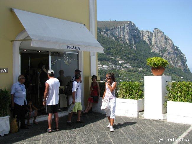 Tiendas de lujo en las inmediaciones en la Piazzeta
