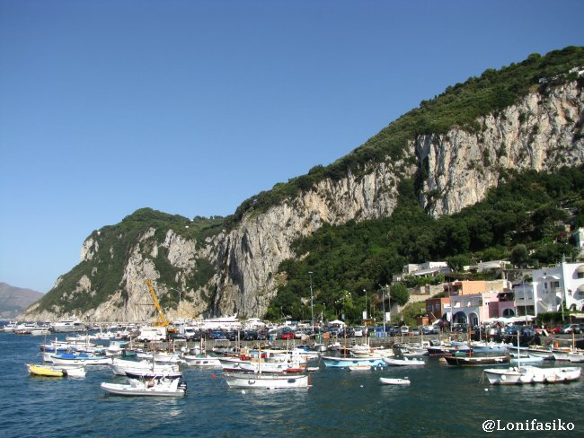Marina Grande, el puerto principal de Capri