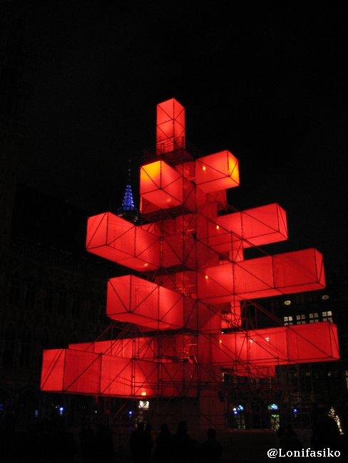 Árbol de Navidad en La Grand Place