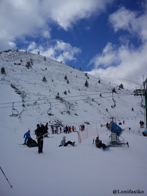 Zona principiantes en la estación de esquí de Valdezcaray