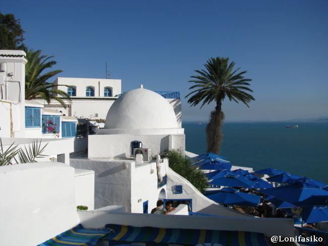 Terrazas 100% mediterráneas, idílicas, en Café des Delices, en Sidi Bou Said