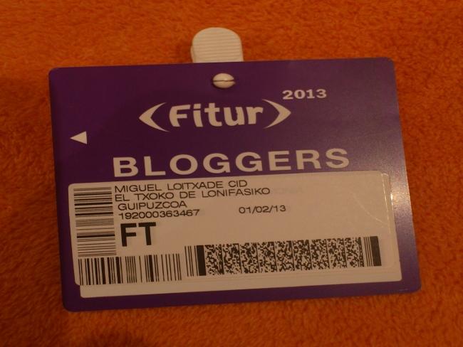 Acreditación profesional como blogger de viajes para Fitur 2013