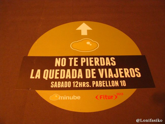 Indicaciones para llegar a la quedada de viajeros de Minube en Fitur 2013