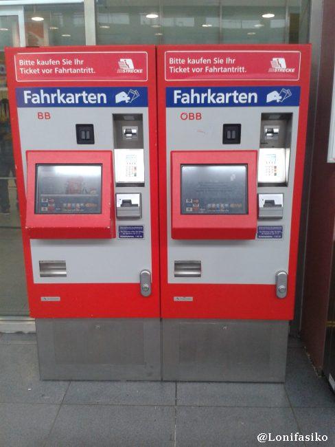 Máquinas de OBB donde NO se pueden comprar billetes a Munich