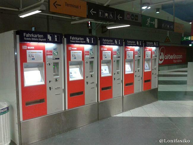 Máquinas expendedoras de tickets para S-Bahn, y también para otros trenes