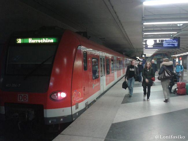 S-Bahn S8 dirección Heersching, desde Munich aeropuerto a München Ost