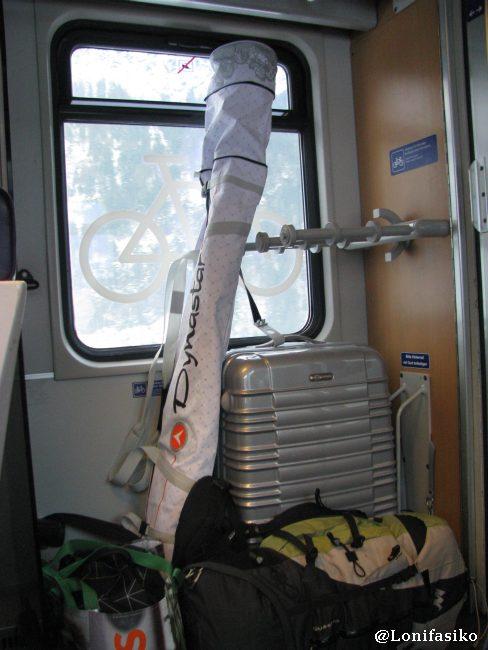 Zonas del tren adaptadas para bultos grandes y material de esquí