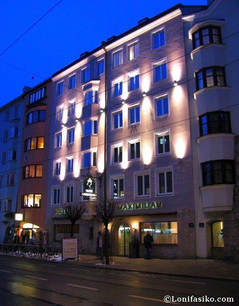 Fachada del Hotel Maximilian en Innsbruck