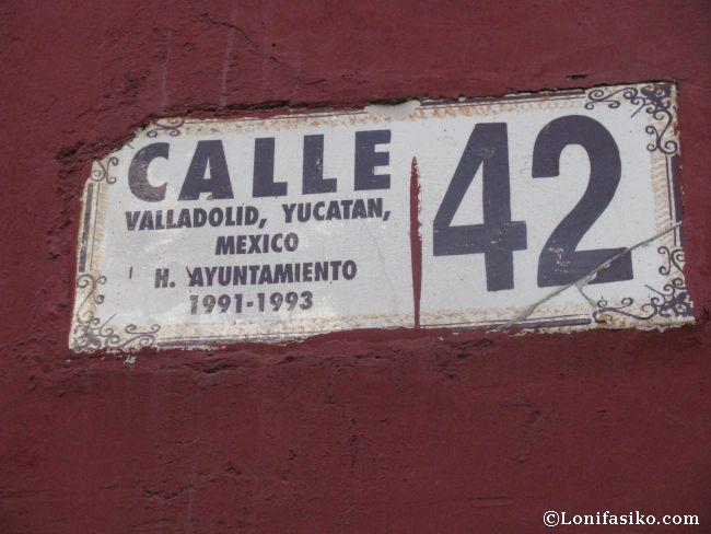 Nombres de calle nada complicados en Valladolid, México
