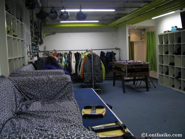 Zona de prueba de botas de la tienda Die Böerse