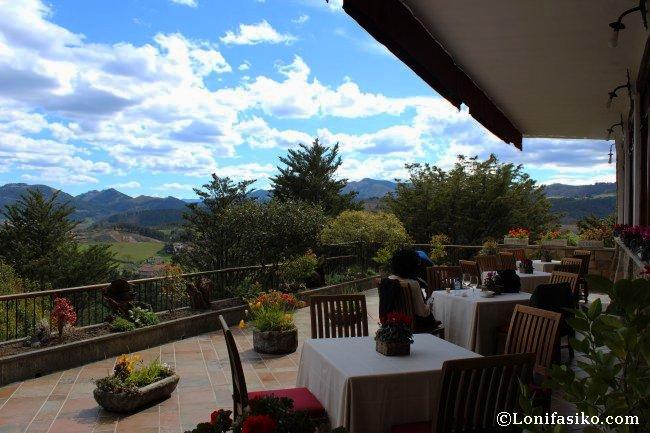 Vistas desde la terraza del Restaurante Andra Mari en Galdakao