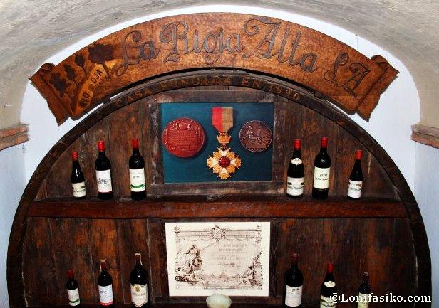 Bodegas emblemáticas como La Rioja Alta tienen su propio espacio en el Andra Mari