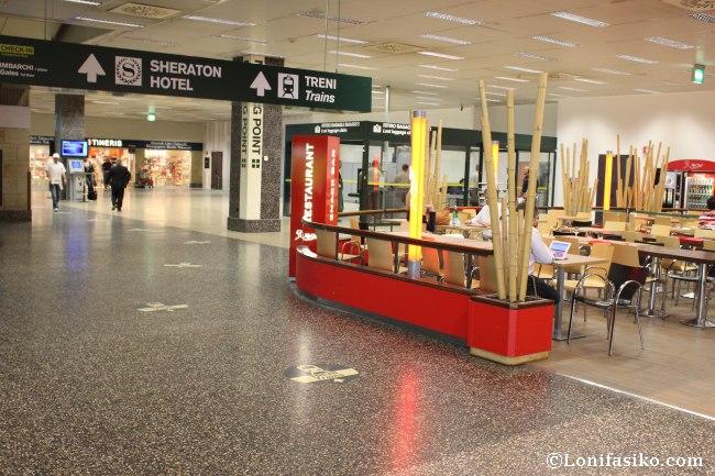 Señalética aeropuerto de Malpensa