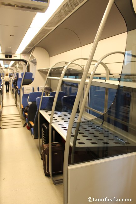 Llevar maletas de forma gratuita en el tren Malpensa Express