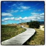 Sendero que une las playas de A Retorta con Carragueiros