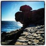 Curiosa formación rocosa en Castro de Baroña