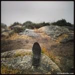 Suela de zapatilla en Finis Terrae, cabo Fisterra