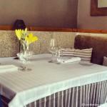 Detalles del comedor en el Restaurante Eirado da Leña