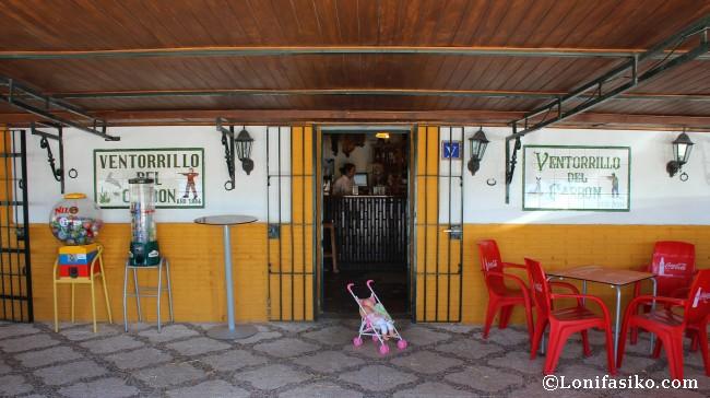 Entrada al bar restaurante Ventorrillo del Carbón, en Medina-Sidonia