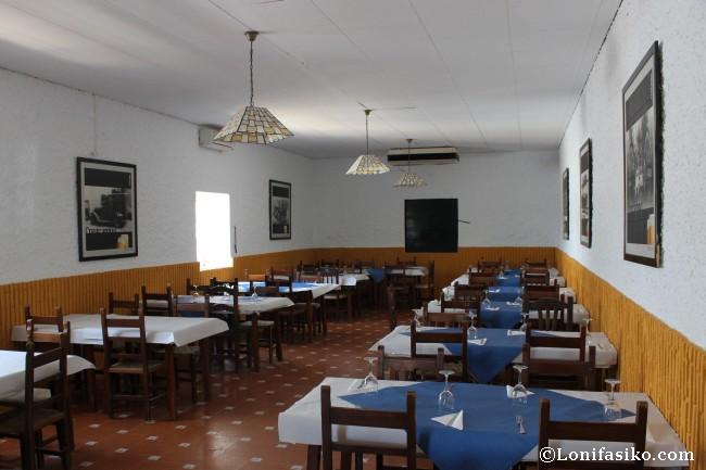 Interior de uno de los comedores del Restaurante Ventorrillo del Carbón