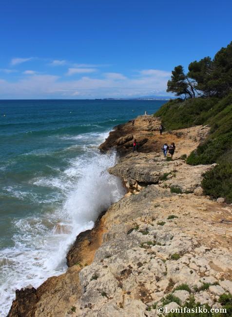 Senderismo acantilados Camí de Ronda Tarragona Tamarit