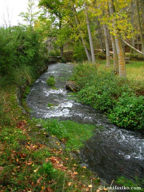 Tramo y curso inicial del río Queiles, afluente del Ebro