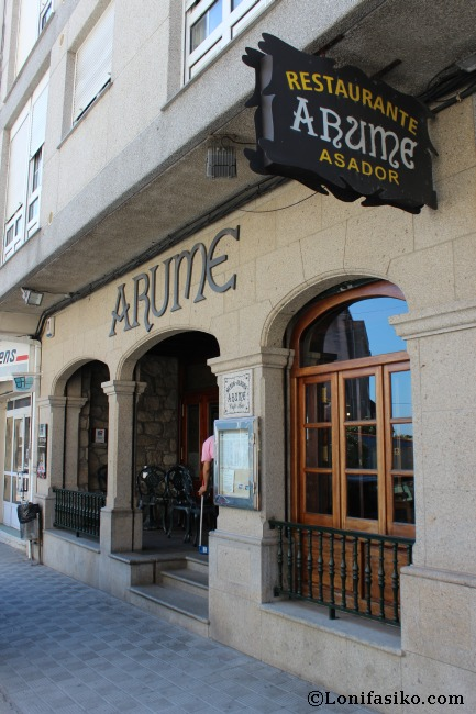 Exterior del restaurante asador Arume de Boiro