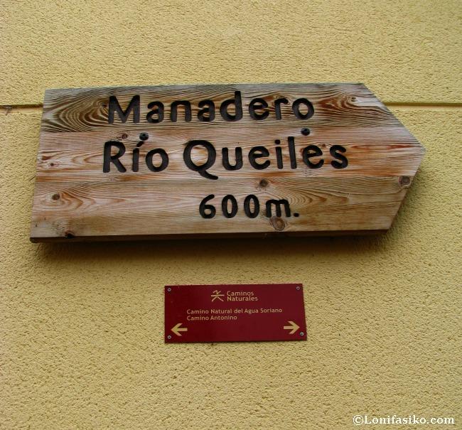 Señalización al nacedero/manadero del río Queiles
