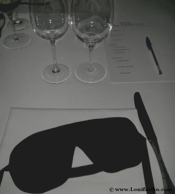 Dark dinner o cena a ciegas en Restaurante Andra Mari