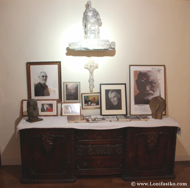 Vida y obra de Jorge Oteiza en Arantzazu Goiko Benta