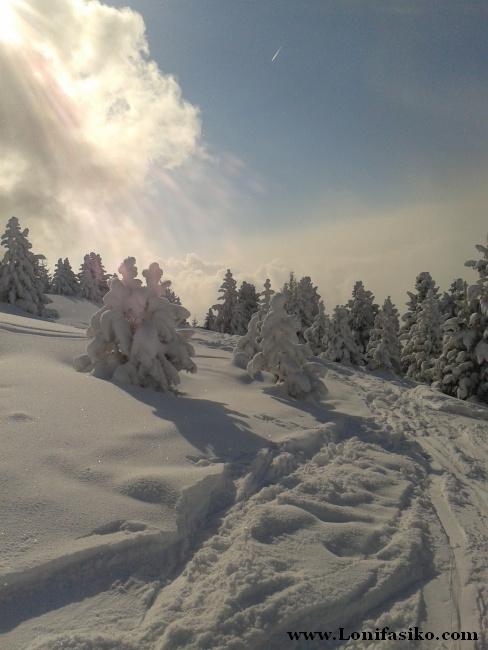 Paisaje de ensueño en la estación de esquí de Patscherkofel