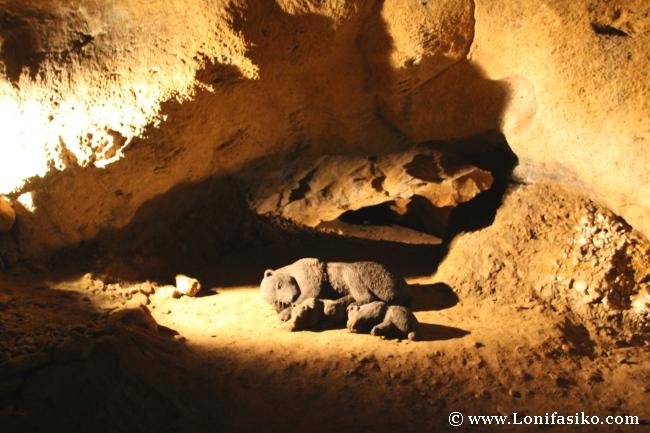 Oso cavernario en Cuevas de Arrikrutz en Oñati