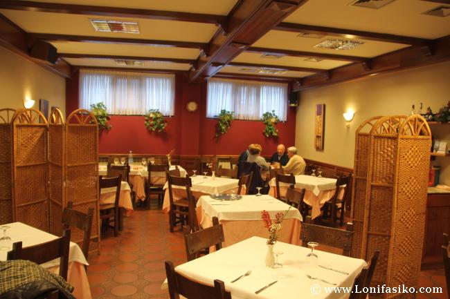 Comedor del Restaurante Soloa de Abadiño