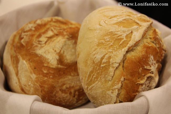 Pan casero en el Restaurante Soloa