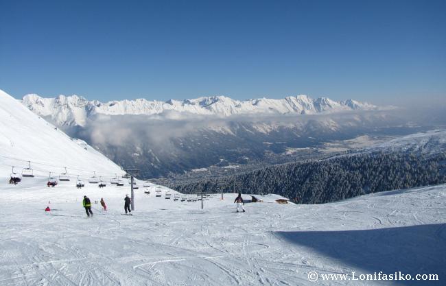 Axamer Lizum ofrece unas vistas espectaculares sobre el valle del Inn